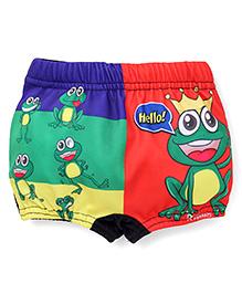 Rovars Swimming Trunks Frog Prince Print - Multi Color