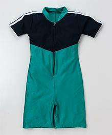 Rovars Half Sleeves Legged Swimsuit - Blue Navy
