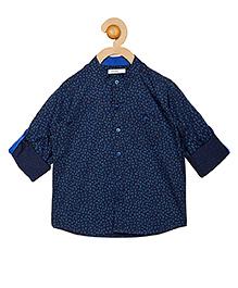 Campana Full Sleeves Printed Shirt - Navy Blue