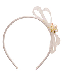 Yashasvi Hair Band Bow Applique - White