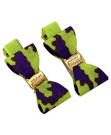 Yashasvi Hair Clip Bow Style - Green