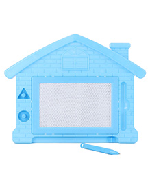 House Shape Baby Drawing Board - Blue