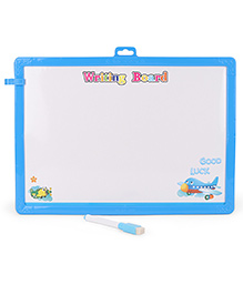 Learning Clock Baby Drawing Board With Pen And Eraser - Blue