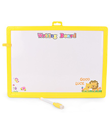 Learning Clock Baby Drawing Board With Pen And Eraser - Yellow