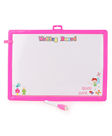 Learning Clock Baby Drawing Board With Pen And Eraser - Pink