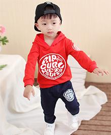 Pre Order - Superfie Hoodie With Pants Set - Red