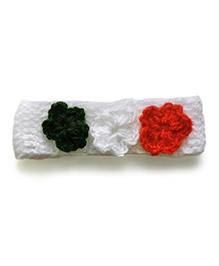 The Original Knit Flower Applique Headband - Multicoloured