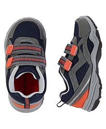 Carter's Sneakers Cum Sports Shoes Dual Velcro Closure - Grey & Navy