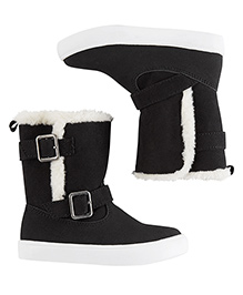 Carter's Boots With Fur - Black