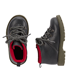 Carter's Tie Up Lace Boots - Dark Navy