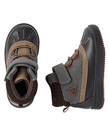 Carter's Boots With Velcro Closure - Grey Black