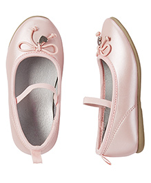 Carter's Bow Applique Belly Shoes - Pink