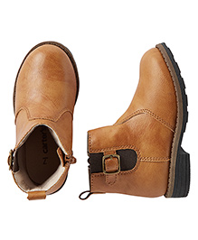Carter's Boots With Buckle Design - Brown