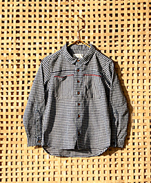 MilkTeeth Amber Ravi Plaid Printed Boys Shirt - Blue