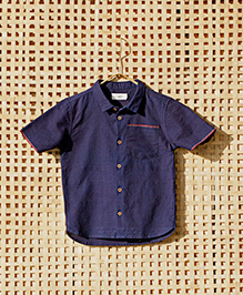 MilkTeeth Megha Ravi Boys Shirt - Dark Blue