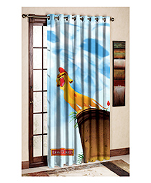 Uber Urban The Lion Guard Print Door And Window Curtain - Blue And White