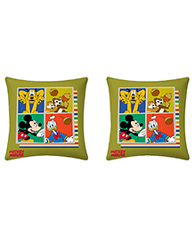 Uber Urban Cushion Mickey And Friend Print Pack Of 2 - Green