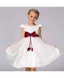Pre Order - Awabox Princess Cut Dress With At Waist - Cream