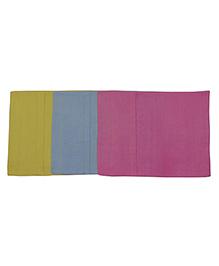 MK Handicraft Baby Pillow And Pillow Cover Set - Green Blue Pink