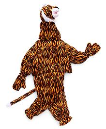 IR Full Sleeves Tiger Costume - Dark Brown Black