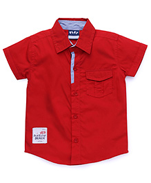 Little Kangaroos Half Sleeves Solid Color Shirt - Red