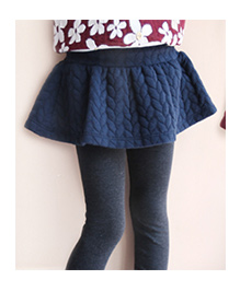 Tickles 4 U Braid Embossed Skirt With Attached Leggings - Blue