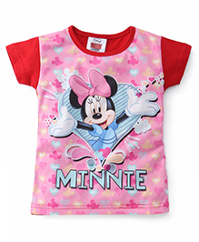 Eteenz Short Sleeves Top Minnie Mouse Print - Red
