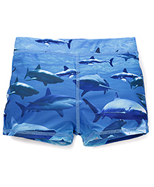 Mothercare Swimming Trunks Allover Fish Print - Blue