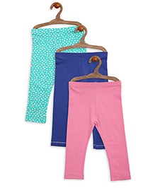 Mothercare Leggings Pack of 3 - Green Blue Pink