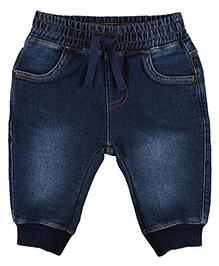 Mothercare Full Length Denim Jogger Jeans - Dark Blue