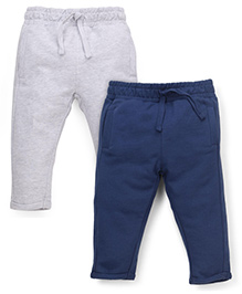 Mothercare Solid Color Pajamas Set Of 2 - Grey Navy
