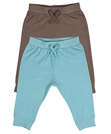 Mothercare Full Length Track Pants Pack of 2 - Blue  Brown