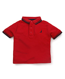 Mothercare Half Sleeves Polo T-Shirt - Red
