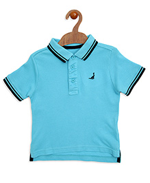 Mothercare Half Sleeves Polo T-Shirt - Turquoise Blue