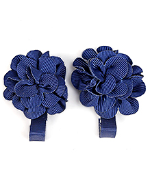 Mothercare Floral Design Clips Set Of 2 - Navy
