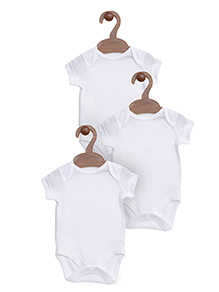 Mothercare Short Sleeves Onesies Pack Of 3 - White