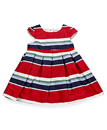 Mothercare Cap Sleeves Parsol Stripes - Red