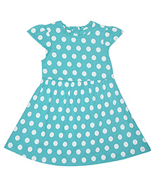 Mothercare Cap Sleeves Frock Polka Dot Print - Green