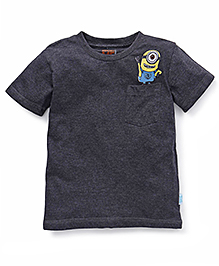 Minions Half Sleeves T-Shirt - Anthra Melange