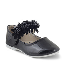 Kittens Shoes Ballerinas With Embellished Strap - Black
