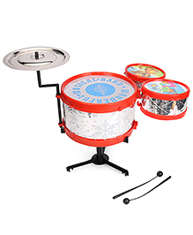 Speedage Wonderful Drum Musical Band Set - Red