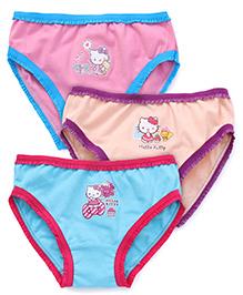 Hello Kitty Printed Panties Set of 3 - Pink Cream Blue