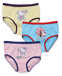 Hello Kitty Panties Pack of 3 - Light Yellow Sky Blue Pink