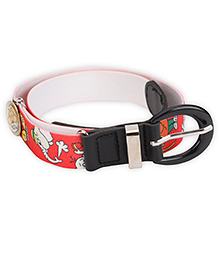 Kid-o-nation Stretchable Belts With Leather Buckle - Red