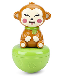 Fab N Funky Roly Poly Monkey - Green Brown