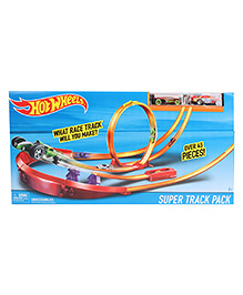 Hotwheels Super Track Pack Multi Color - 45 Pieces