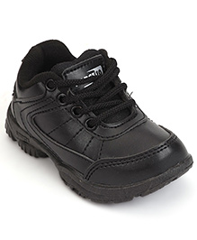 Force 10 School Shoes Lace Up Style - Black