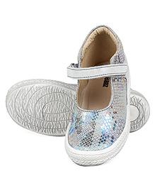 Beanz Party Wear Gloria Ballerina - Light Grey