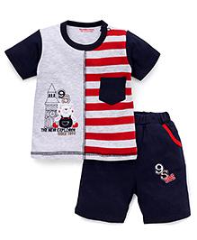 Wonderchild T-Shirt And Shorts Set - Grey & Red