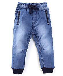 Kiddopanti Full Length Jogger Jeans - Light Blue